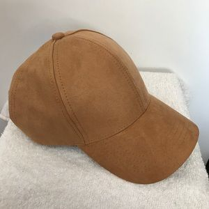 Accessories - SOLID KHAKI COLOR SUEDE LIKE FABRIC BASEBALL CAP
